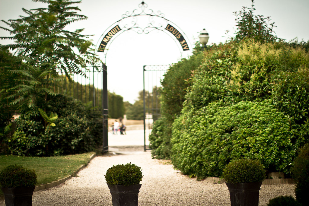 French garden in Saint-Germain-en-Laye, France 1