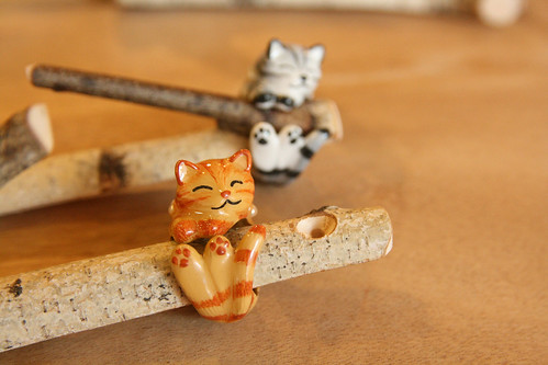 *new* Hand painted playful kitty rings