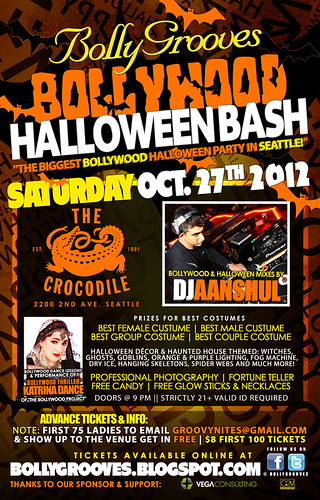 "Seattle Bollywood Halloween Bash @ The Crocodile | ""The Biggest Bollywood Halloween Party!"""