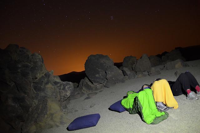 Ver la lluvia de estrellas desde las faldas del Teide