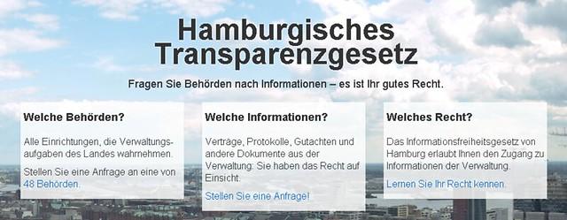 Hamburgisches Transparenzgesetz - Frag den Staat
