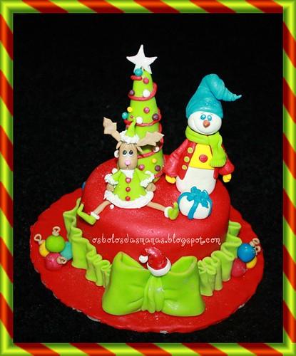 Bolo Festa de Natal Escola by Osbolosdasmanas