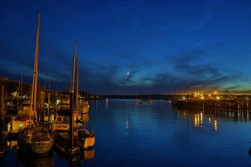Gloucester MA Harbor At Dusk 10/19/12 6:41PM by captjoe06