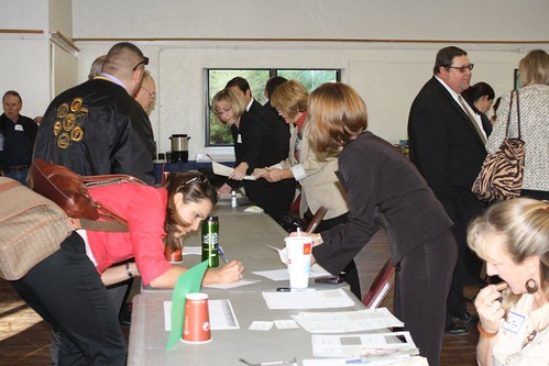 Participants registering for the conference in Pueblo, Colorado. USDA photo.