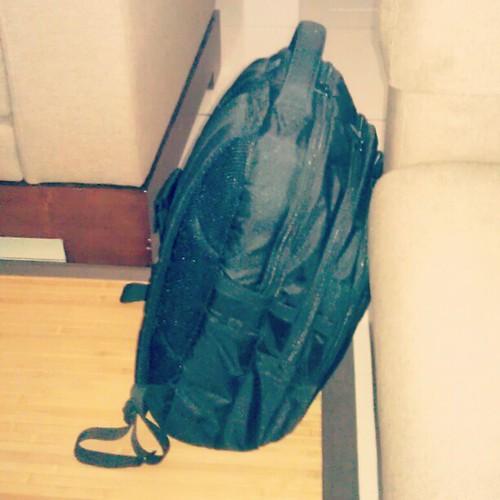 Balik konvo dengan satu backpack je.
