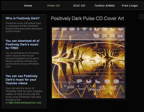 Positively Dark Pulse CD Cover