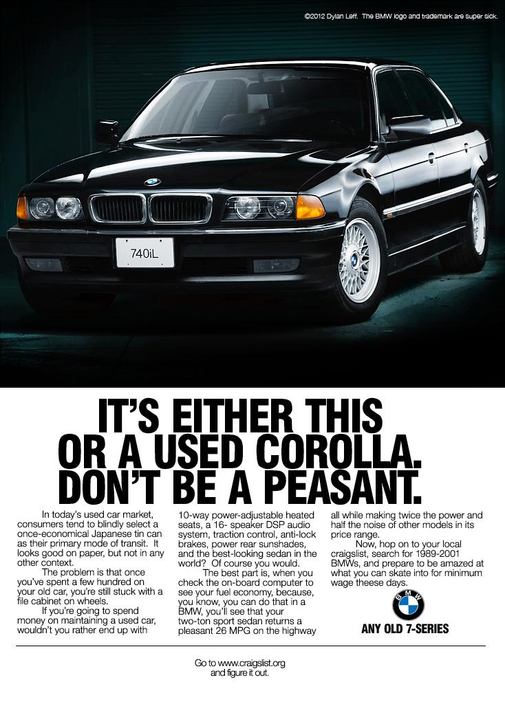Vwvortex Com Recreating A Bmw E38 Ad From 1994