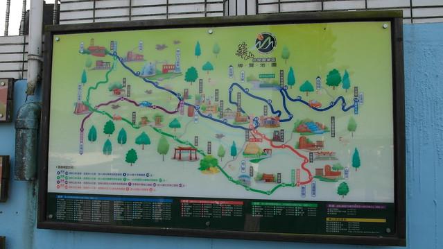 華山休閒農業園區的大地圖