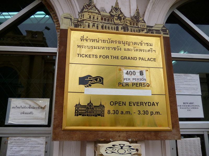 Pricey Grand Palace tickets
