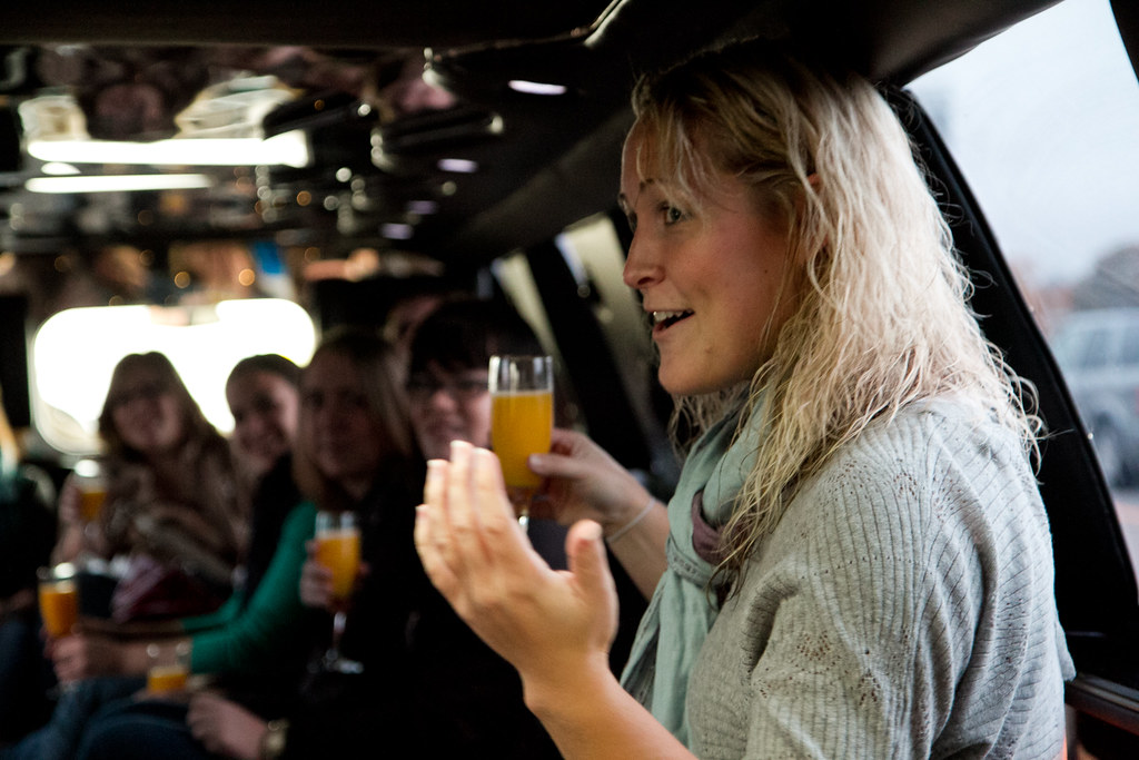 Kasie with Limo Mimosas