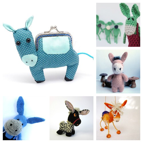 COLLAGE - Squishy Donkeys on Etsy