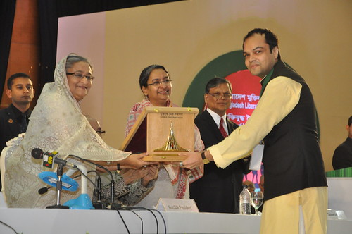 Sheikh Hasina, Dr Dipu Moni, Foreign Affairs Minister and Anshul Avijit by Chindits