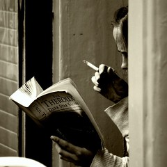 """Books are the quietest and most constant of friends; they are the most accessible and wisest of counselors, and the most patient of teachers."" -Charles William Elliot, photo by Stefano Corso"