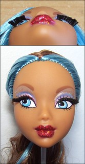 """Eyelash rooting + cutting pattern for a """"cat eye"""" look"""