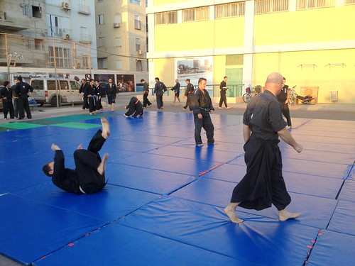Ninjutsu at the parking lot