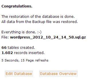 Phục hồi dữ liệu thành công