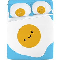Kawaii Fried Egg Sheet Set by marceline (asking for trouble)