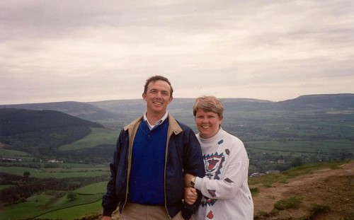 Pau & Bex - top of Roseberry Topping N. Yorkshire
