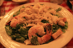 Jumbo Shrimp and Jumbo lunp Crabmeat over saesar salad $28.45