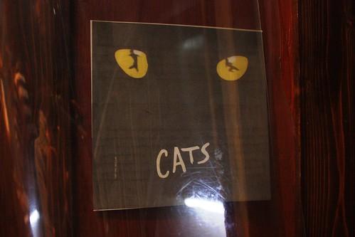 店外にあるCATSの貼紙。ん?