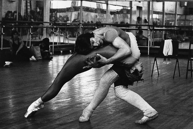 Wendy Ellis Soames and David Wall during rehearsals for Mayerling © Roy Round 1978