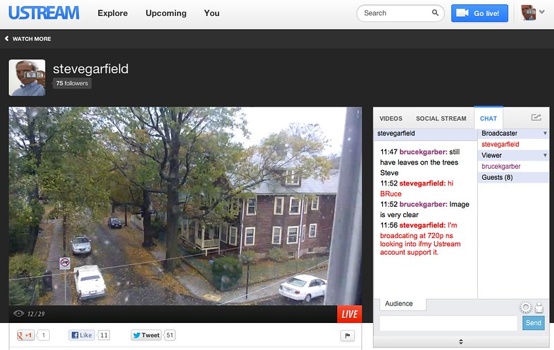 stevegarfield on USTREAM: #SANDY LIVE video stream from BOSTON