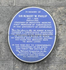 Photo of Robert William Philip blue plaque
