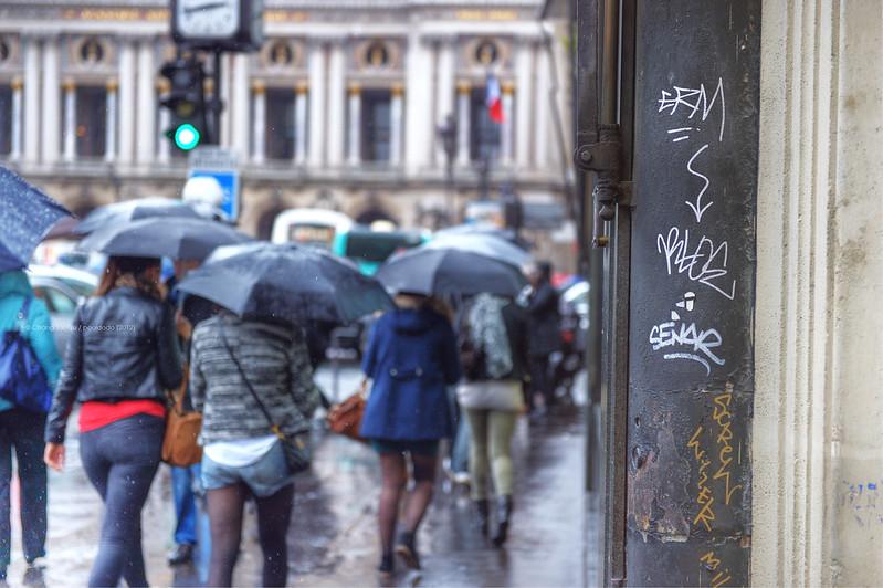 [street] raining in Paris