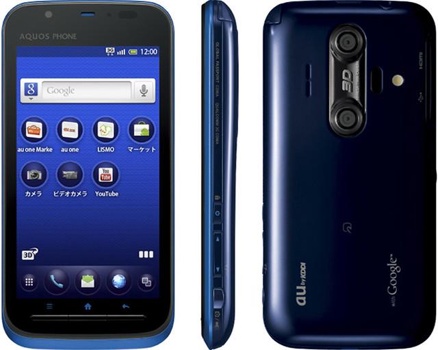 AQUOS PHONE IS12SH 実物大の製品画像