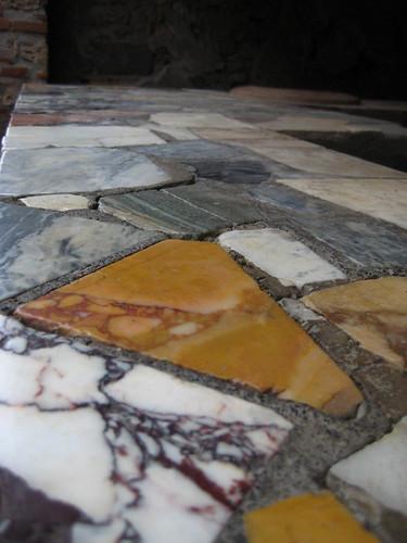 Mosaic tile counter top, Pompei
