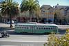 MUNI F-LINE CARS--1053 at Market/Sanchez/15th Street OB by milantram