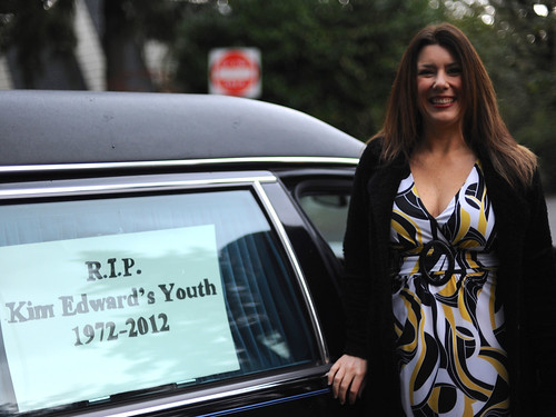 The hearse that carried us to Kim's 40th birthday party
