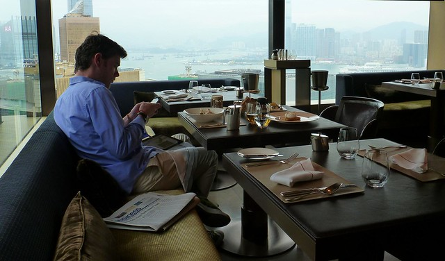 The Upper House Hotel Hong Kong breakfast with a view from 49th floor