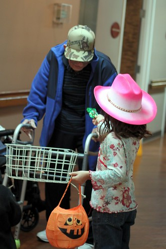 Lydia the Cowgirl Handing Out Candy