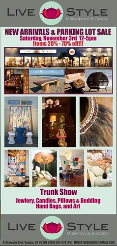Livestyle Design Sale Event Nov. 3 12-5pm