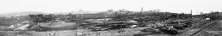 The Halifax Explosion, Nova Scotia. View of disaster area from Pier 8 / L'explosion d'Halifax en Nouvelle-Écosse. Vue de l'aire dévastée prise à partir du quai no 8