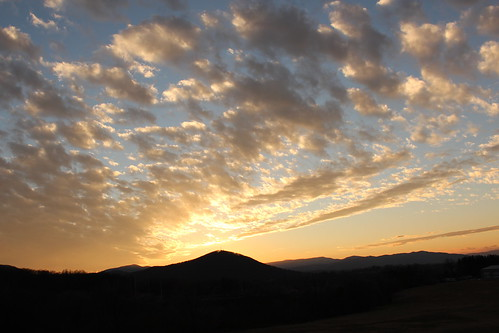 sunset sky clouds virginia va 365 mountian 2013 010413 vintonva millmountian 01042013