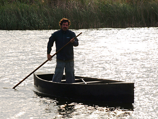 Punting on the Wetlands of the Delta del Ebro, Catalonia