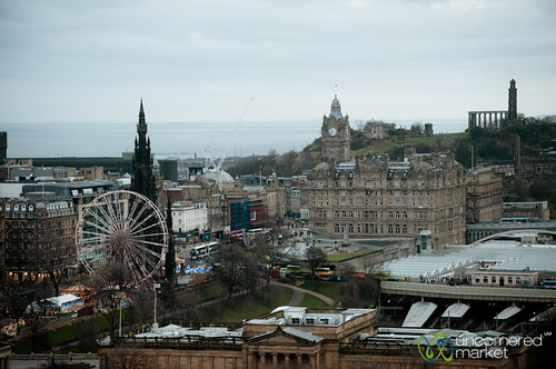 Edinburgh New Town and Ferris Wheel