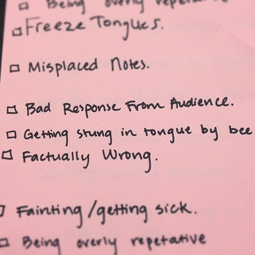 I asked my students to describe a worst case scenario for giving a public speech. Tongue bee stings ranks pretty high on the terrible list. #speechclass #studentsmakemelaugh