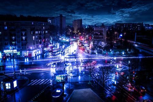 [フリー画像素材] 建築物・町並み, 都市・街, 道路・道, 夜景, 風景 - フランス ID:201301221600