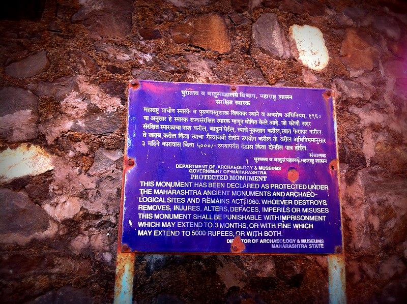 Archaeological Society of India board at Sewri Fort