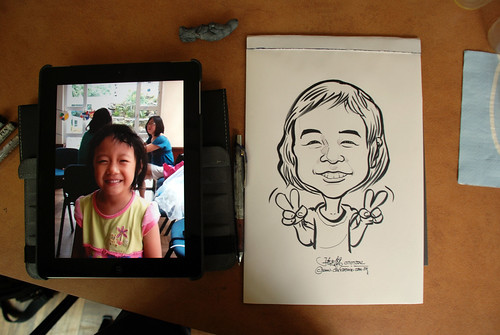 caricature sketching for a birthday party 07072012 - 14