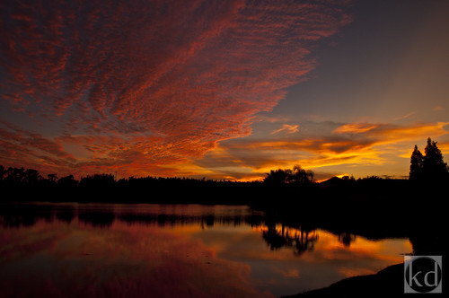 blue sunset sky orange white lake reflection water yellow clouds nikon lakesunset nikond90 wesleychapelfl nikond90club