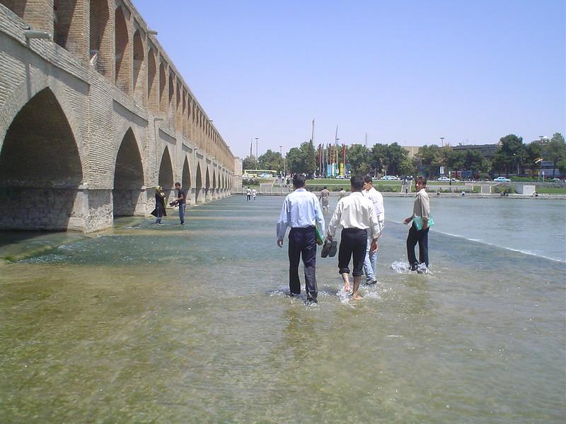 Ponte Sio-Seh Pole em Esfahan Irão
