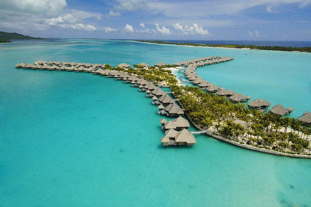 The St. Regis Bora Bora Resort—Aerial View #1
