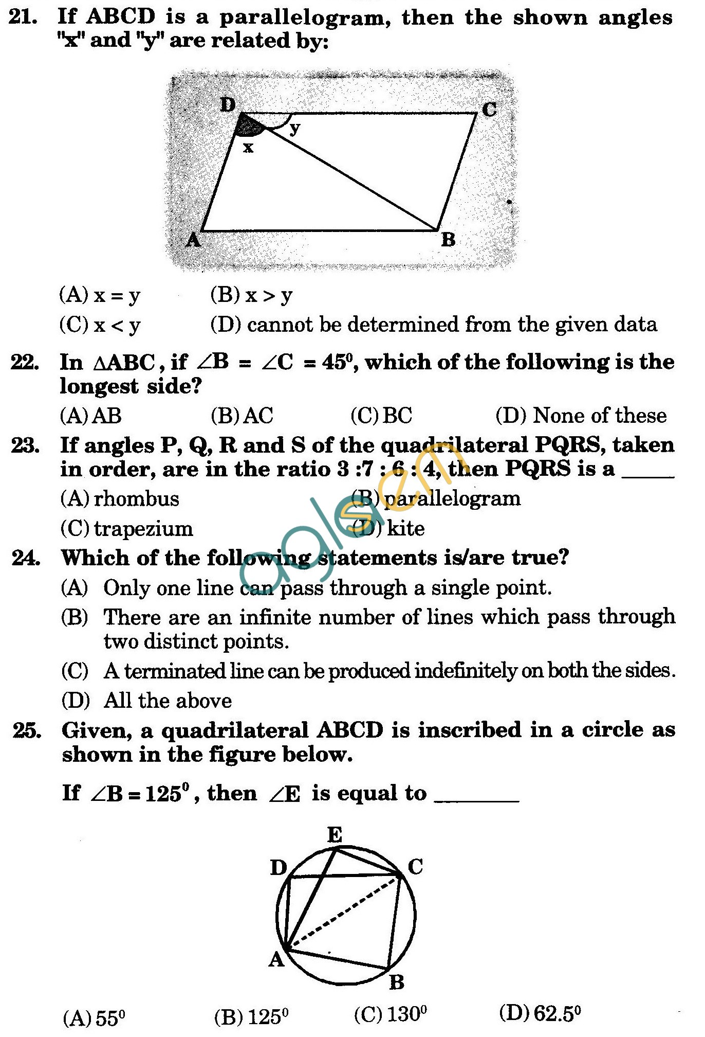 NSTSE 2009 Class IX Question Paper with Answers - Physics