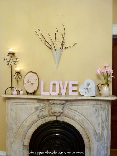 Romantic Valentine's Mantel