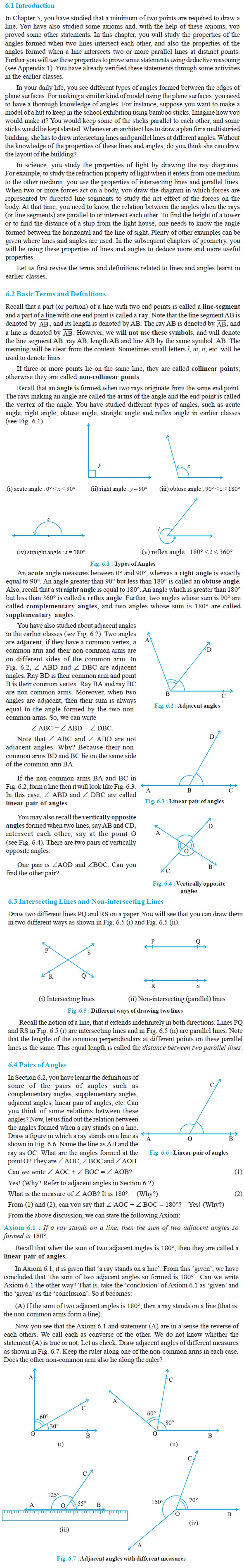 NCERT Class IX Maths Chapter 6 Lines and Angles