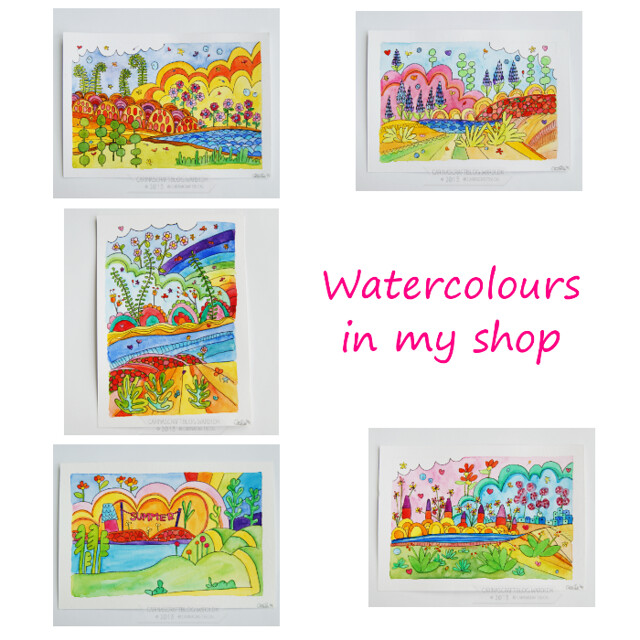 watercolours in my shop